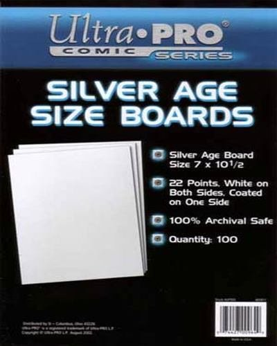 UltraPro Comic Series Silver Age Size Boards 7 x 10 1/2 Pack of 100 by UltraPro