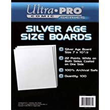 Ultra Pro Comic Series Silver Age Size Boards 7 x 10 1/2 Pack of 100