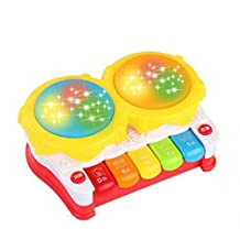 Musical Electric Baby Toys Hand Drum Tapping Instrument Percussion Set for Children, Story Hand Drum