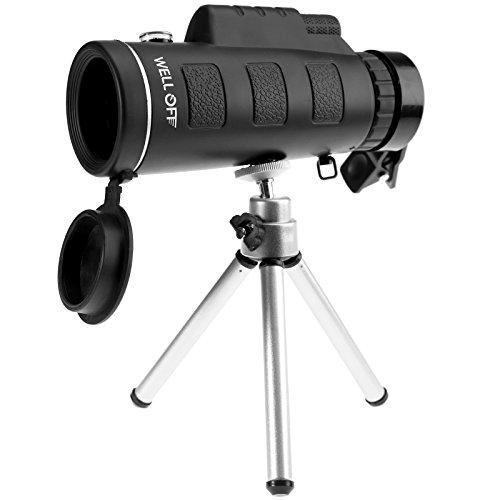 Night Vision 40x60 Single Mini HD Monocular Phone Camera Lens Hunting Telescope by SING F LTD