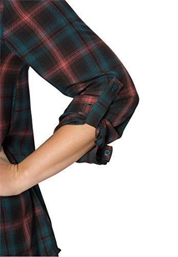 Roamans Women's Plus Size Hankie Hem Plaid Shirt