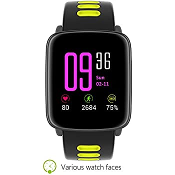 Amazon.com: Smart Watch Sport Fitness Tracker - Luxsure IP67 ...