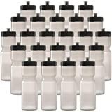 50 Strong Sports Squeeze Water Bottle Bulk Pack - 24 Bottles - 22 oz. BPA Free Easy Open Push/Pull Cap - Made in USA