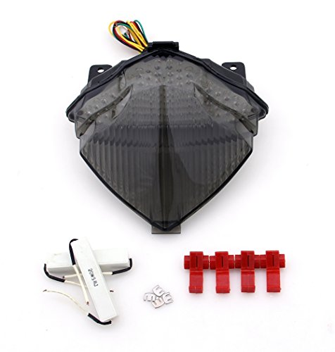 (Areyourshop Integrated LED TailLight Turn Signals For Yamaha YZF R1 2004-2006 Smoke)