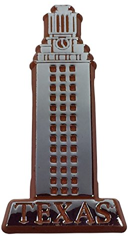 (University of Texas Longhorns UT Tower METAL Auto Emblem with Orange Trim)