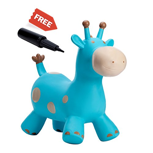 Babe Fairy Bouncy Horse, Jumping Animals,Horse Hopper,Outdoors Ride On Bouncy Animal Play Toys, Inflatable Hopper(Blue Deer) by Babe Fairy