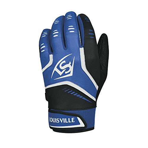 Louisville Slugger Omaha Youth Batting Gloves - Youth Large, Royal - Louisville Kids Center