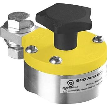 Magswitch - Masa magnética para soldadura (600 Amp, con interruptor de encendido y apagado