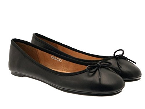 NEW SHOES 3 FLAT PUMPS LADIES SIZE matt WOMENS PATENT LEATHER MATT black BALLET SCHOOL GIRLS 8 rCrqp4