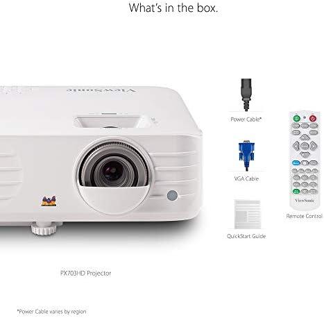 Viewsonic Px703hd 3d Heimkino Dlp Beamer Full Hd 3 500 Ansi Lumen 2x Hdmi 10 Watt Lautsprecher 1 3x Optischer Zoom Weiß Home Cinema Tv Video