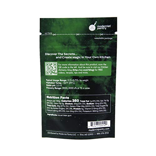 Food Grade Locust Bean Gum (Molecular Gastronomy) ⊘ Non-GMO ☮ Vegan ✡ OU Kosher Certified - 50g/2oz by Modernist Pantry (Image #1)