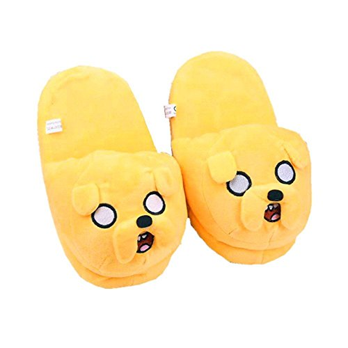 Adventure Time with Finn and Jake Soft Plush Slippers Shoes Heel without Cover (Adventure Time Finn Adult Costume)