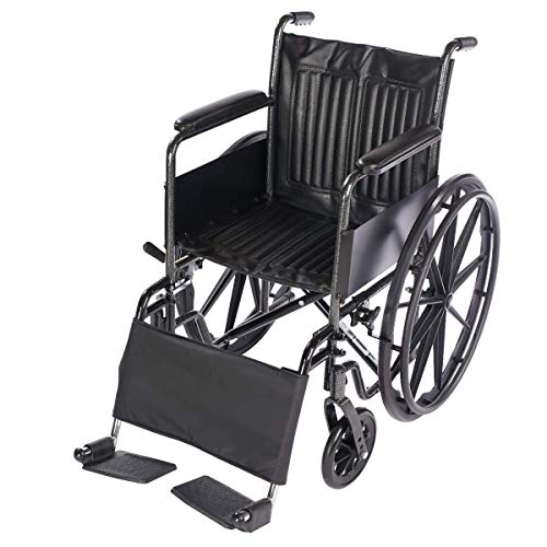 Lacura Leg Strap, Wheelchair Accessory to Support Lower Legs & Prevent Feet from Falling Off Foot Rests, Wheelchair Leg Pad Provides Comfort & Support for Elderly, Handicapped, and Disabled Users