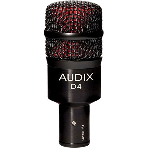 Audix D4 Dynamic Microphone, Hyper-Cardioid by Audix