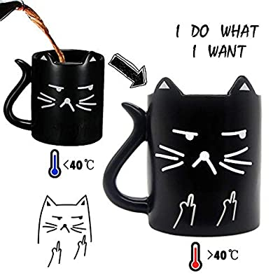 """Cat Fan related Products Funny coffee Mug, Cat mug, with quotes """"I do what I want"""",... [tag]"""