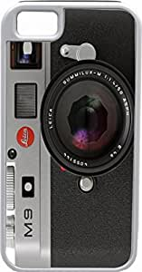 Rikki KnightTM Retro Camera Deisgn White Tough-It Case Cover for iPhone 5 & 5s(Double Layer case with Silicone Protection and Thick Front Bumper Protection)