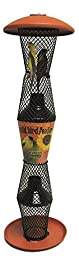 No/No Terra Cotta and Black Sunflower Tube Bird Feeder TCB5S00342