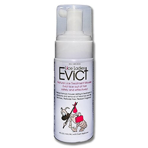 Lice Ladies EVICT / All-Natural, Non-Toxic, Fast Acting Lice Treatment Mousse / homeopathic formula / 1 – 4 oz Foam - Permethrin Lice Head