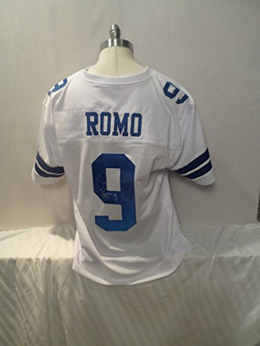 (Tony Romo Signed Dallas Cowboys White Autographed Jersey Novelty Custom Jersey)