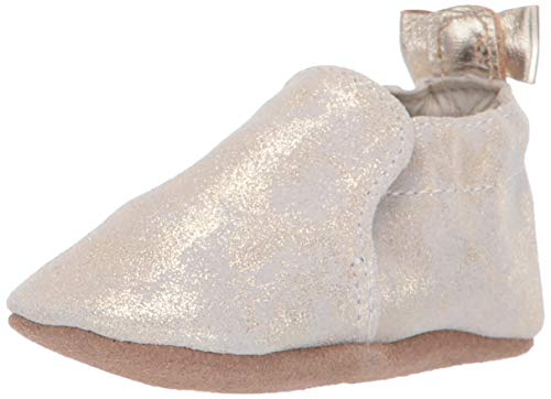 Robeez Girls Crib Shoe, Gold Shimmer, 12-18 Months