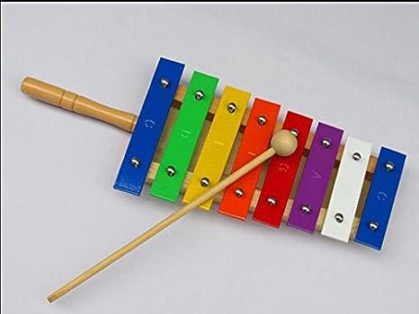SunnyGod Instrumentos Musicales para bebés Golpe de xilófono de Golpe de Madera de la Mano de