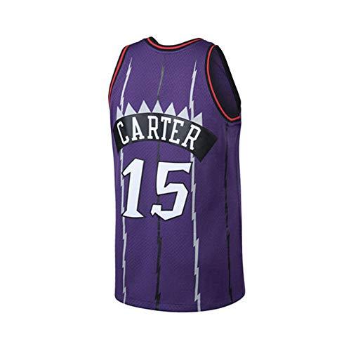 Carter Vince Basketball (Sjdsuer Mens Carter Jersey Adult 15 Vince Toronto Basketball VC Purple Size (Purple, Medium))