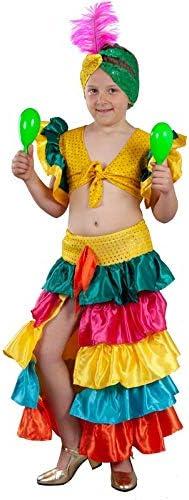 DISBACANAL Disfraz Rumbera de Colores niña - -, 8-10 años: Amazon ...