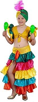 DISBACANAL Disfraz Rumbera de Colores niña - -, 8-10 años ...