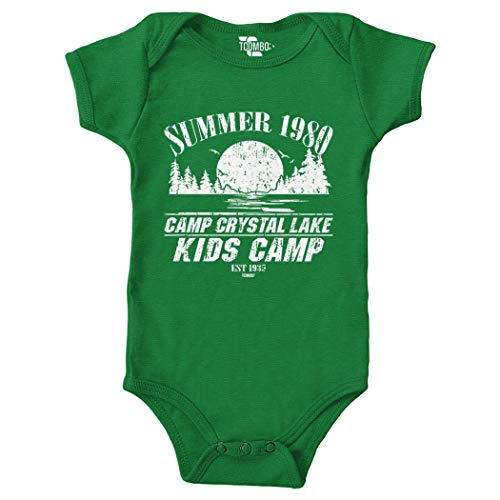 Tcombo Camp Crystal Lake Kids Camp Bodysuit (Kelly Green, 6 Months)