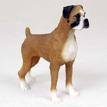 - Boxer - Uncropped Ears - Figurine - Gift for Dog Lovers