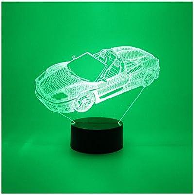 Hguangs 3d coche lámpara lámpara de noche 3d lámpara de escritorio ...