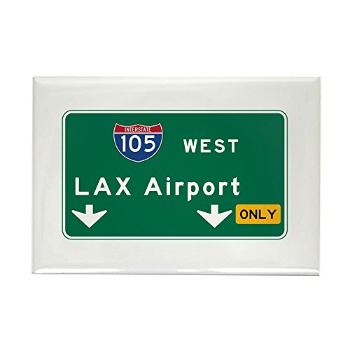 CafePress LAX Airport, Los Angeles, CA Road Rectangle Magnet, 2