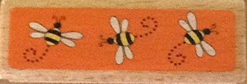 Bumblebee Border - Wood Mounted Rubber Stamp