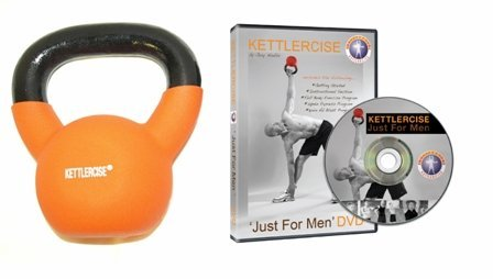 Kettlercise Just For Men DVD PLUS Kettlercise 12kg Kettlebell - Ultimate Fat Loss Package (Kettle Bell 12kg compare prices)