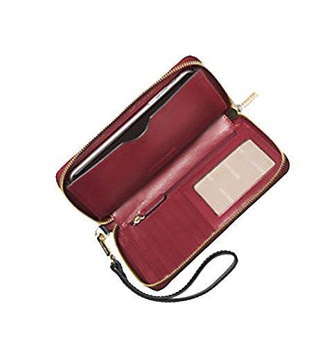 MICHAEL Michael Kors Womens Jet Set Faux Leather PDA Wristlet Black O/S
