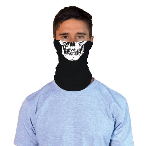 [Skeleton Skull Adult Halloween Costume Face Gaiter] (Last Minute Halloween Costumes Ideas For Adults)