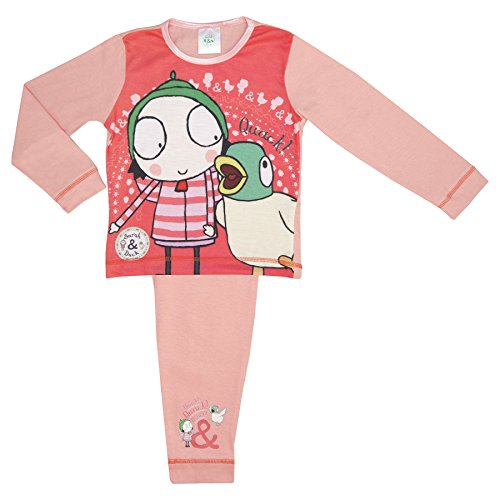 Cartoon Character Products Sarah and Duck 'Quack' Girls Pyjamas - 18 Months to 5 Years - Pink 18-24 Months -