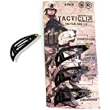 Tacticlip - 4 Pack - Tactical Hair Clips, Multitool Snap Barrettes - Multi-Functional Keychain Metal Multi Tool - Box Cutter, Serrated Edge, Raptor Claw - No Slip for Thick Hair, Kippah clips, Travel