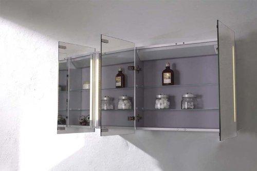 Mebasa mybspkalr1 armario con espejos para ba o efecto for Armarios bano amazon