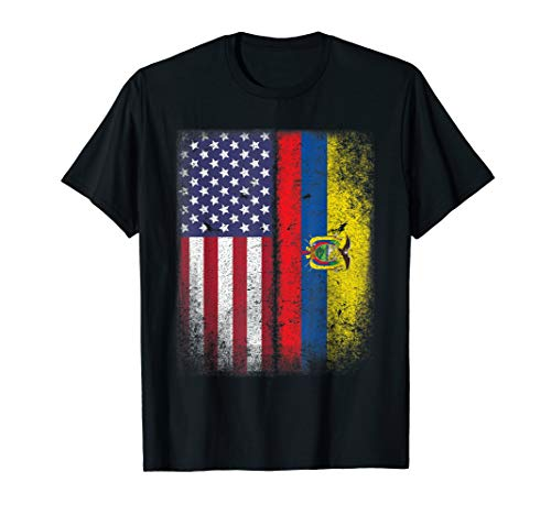 American Ecuadorian Flag T-shirt Ecuador Pride Heritage