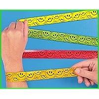 12 pulseras Smiley Face Bofetadas