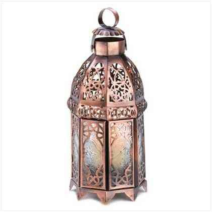 Antique Medieval Intricate Copper Moroccan Candle Lamp Home Decor Lantern Design