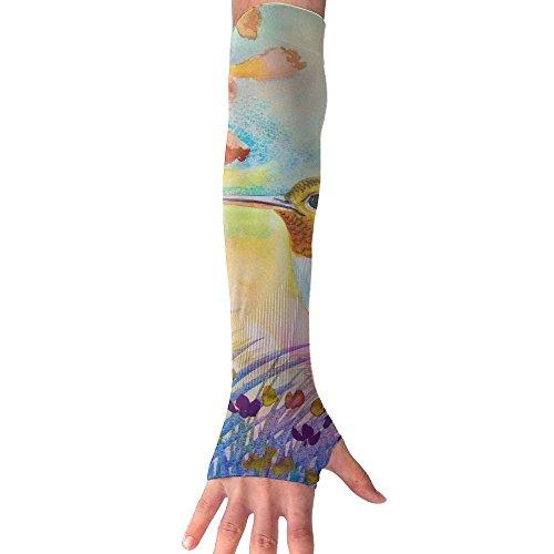 HBSUN FL Unisex Honey Hummingbird Anti-UV Cuff Sunscreen Glove Outdoor Sport Riding Bicycles Half Refers Arm Sleeves