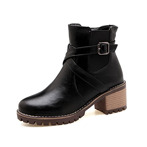 1TO9 Womens Boots Closed-Toe Zip Ankle-Wrap Waterproof Warm Lining Solid Nubuck Casual Light-Weight Bootie Urethane Boots MNS02627 Black VVlUpCsx