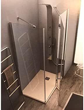 Tamanaco Box ducha de cristal 6 mm fijo puerta a baqueta con fijo de Linea: Amazon.es: Hogar