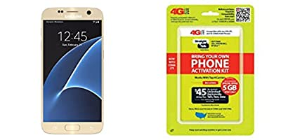 "Straight Talk Samsung Galaxy S7 ""Platinum Gold"" 32GB runs on Verizon's 4G XLTE Via Straight Talk's $45.00 5GB Unlimited talk & Text ""Service Card Not included"""