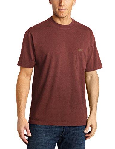 Pendleton Men's Short-Sleeve Deschutes Pocket T-Shirt, Burgundy Heather, MD