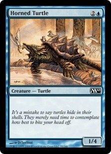 Magic: the Gathering - Horned Turtle - Magic 2010