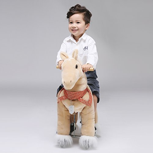 UFREE Action Pony Ride on horse with braids 29'' Small Size, Present for Kid 3-5 by UFREE