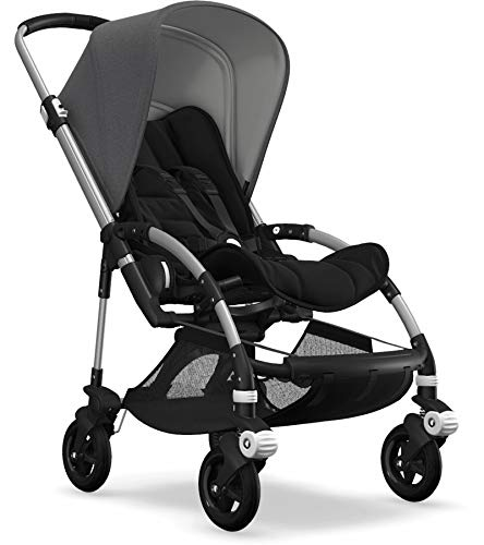 Bugaboo Bee5 Complete Stroller, Alu/Blue Mélange – Compact, Foldable Stroller for Travel and Urban Life. Easy to Steer…
